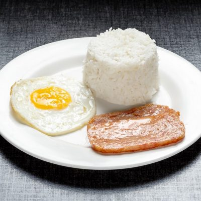 Spam with rice and egg
