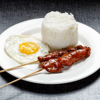 BBQ with rice and egg
