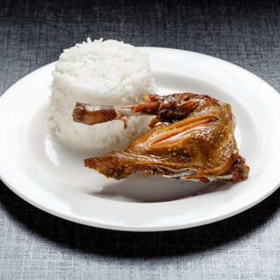 Fried Chicken (breast or thigh) with unlimited rice